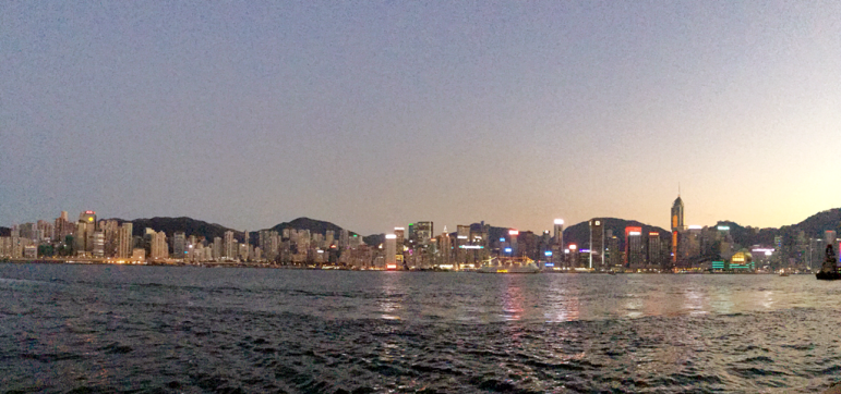 Beautiful Hong Kong cityline