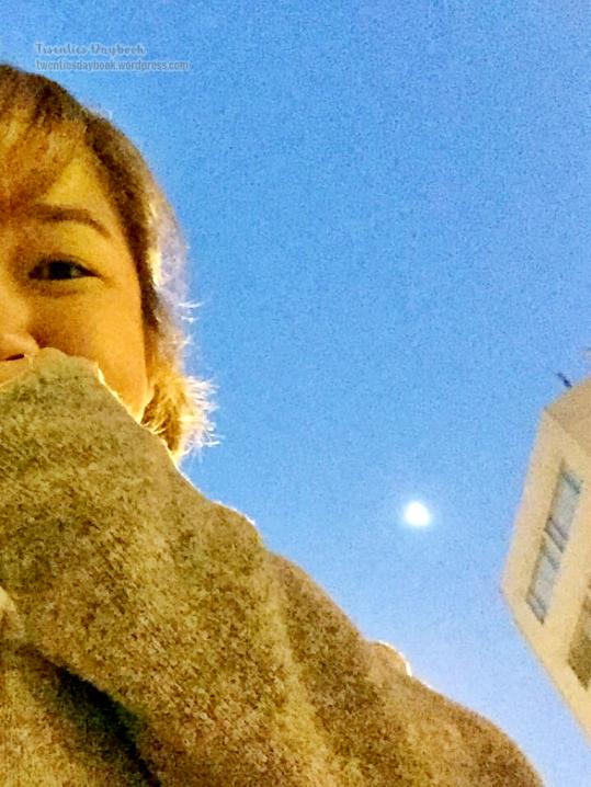 The moon at 6 AM