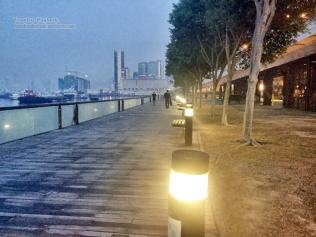 Kwun Tong Promenade, peaceful and dusky at 6:30 AM