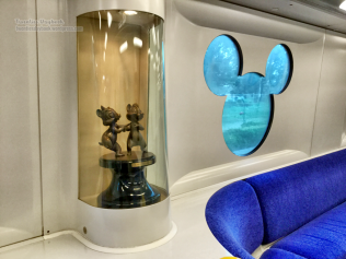 Inside Mickey Mouse train