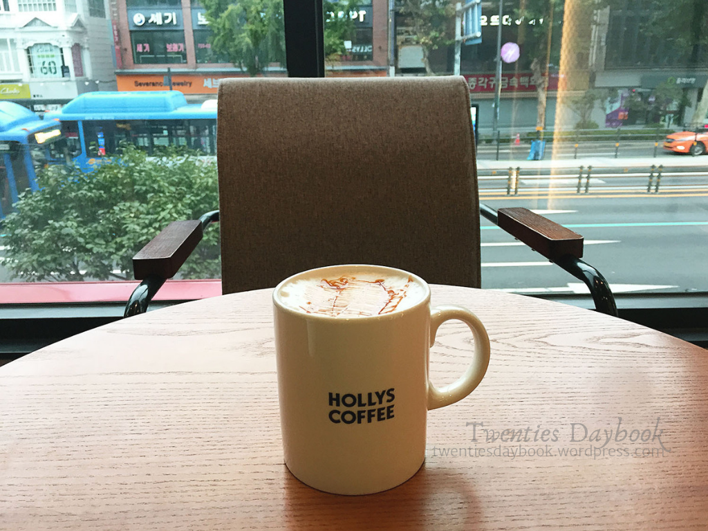 day 2a - myeongdong - hollys coffee